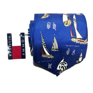 Tommy Hilfiger Accessories - VTG Tommy Hilfiger The Reef Knot Silk Tie Sailboat